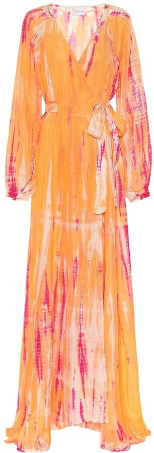 Anna Kosturova Exclusive to Mytheresa Tie-dye silk maxi dress