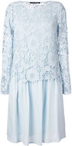 Luisa Cerano - lace pleated dress - women - Cotton - 38