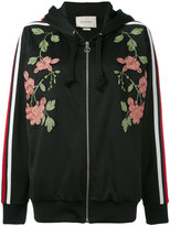 Gucci floral embroidered hooded sweatshirt