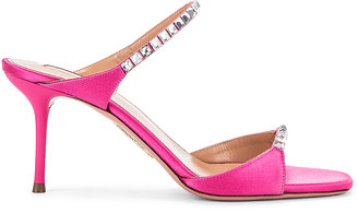 Aquazzura Diamante 75 Sandal in Exotic Pink | FWRD