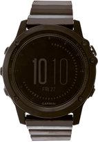 Garmin Unisex Digital Automatic Fenix 3 Sapphire Edition Black Stainless Steel Bracelet Watch 51mm GAWS413059BK
