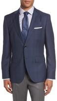 BOSS Men's Jeen 3 Trim Fit Plaid Wool Sport Coat