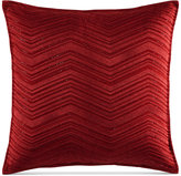 "Hotel Collection Woven Texture Red 18"" x 18"" Decorative Pillow"