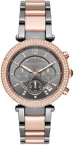 Michael Kors Women's Chronograph Parker Two-Tone Stainless Steel Bracelet Watch 39mm MK6440, First at Macy's