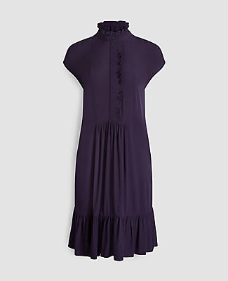 Ann Taylor Ruffle Hem Shirtdress