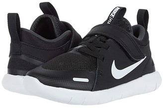 Nike Kids Flex Contact 4 (Infant/Toddler) (Black/White/Anthracite) Kid's Shoes
