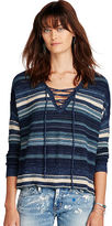 Denim & Supply Ralph Lauren Lace-Up Cotton Sweater
