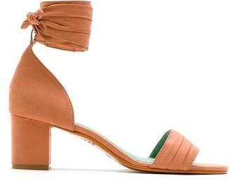 Blue Bird Shoes Block Heel Cupro Sandals
