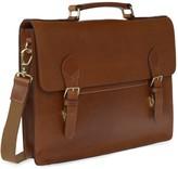 Vida Vida Luxe Tan Leather Briefcase