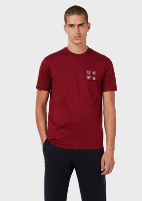 Emporio Armani Jersey T-Shirt With Emoji Patches
