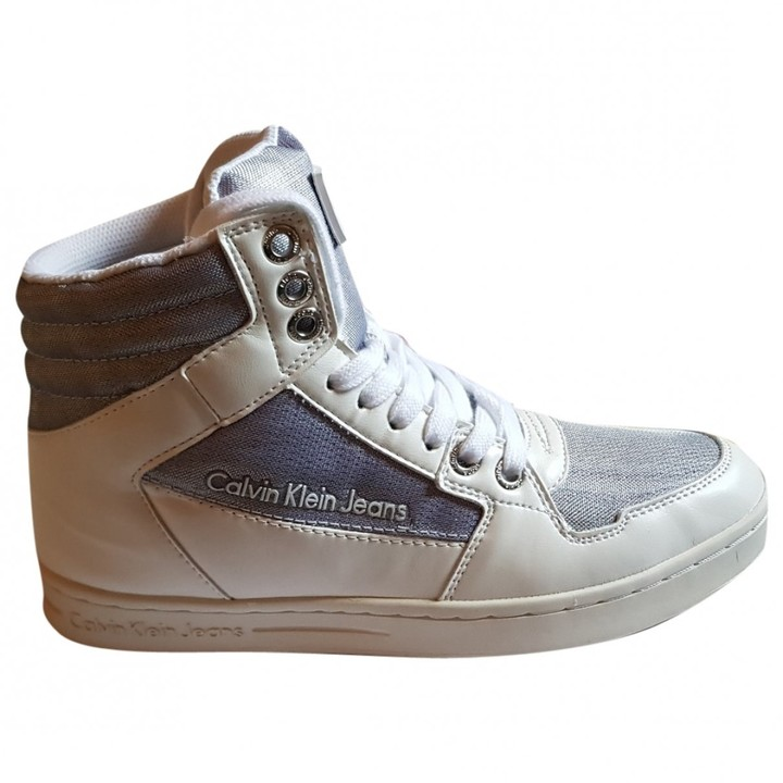 Calvin Klein White Leather Trainers