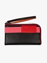 Cote & Ciel Black Purple Large Leather Wallet