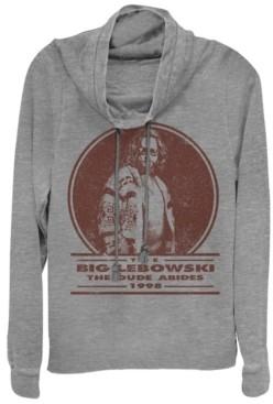 Fifth Sun Big Lebowski Distressed Dude Abides Stamp Cowl Neck Sweater