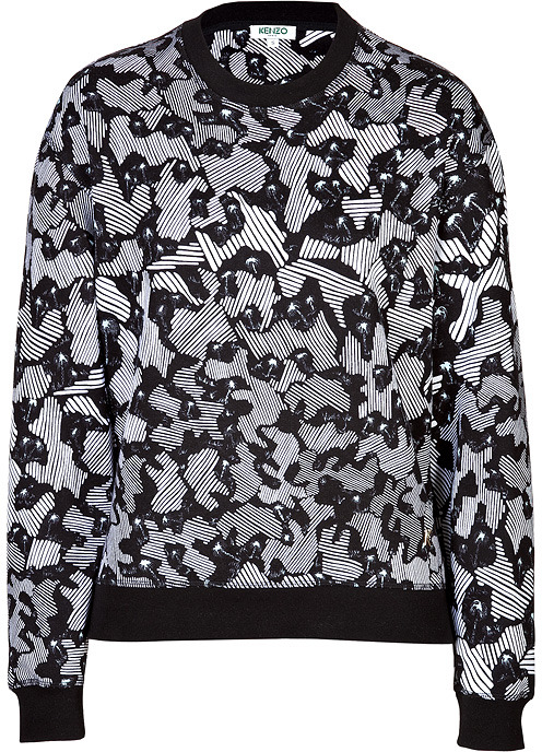 Kenzo Camo Palm Sweater Black