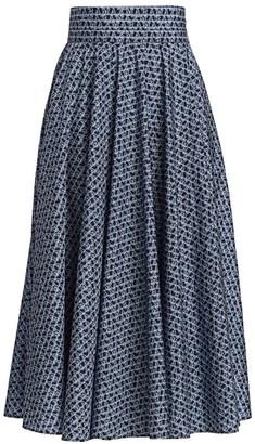 Max Mara Sansa Logo-Print Full Skirt