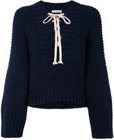 Ulla Johnson lace-up sweater - women - Cotton - M