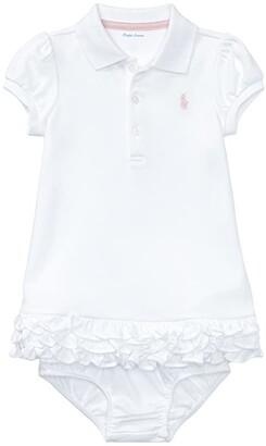 Polo Ralph Lauren Kids Interlock Cupcake Dress (Infant) (White) Girl's Dress