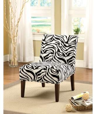 BEIGE Red Barrel Studio Vernie Slipper Chair Red Barrel Studio Upholstery Color: News Paper