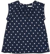 Nautica Little Girls' Silky Dot Top (2T-7)