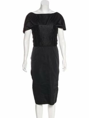 Nina Ricci Satin Plisse Dress w/ Tags Black