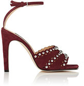 Sergio Rossi Women's Studded Suede Ankle-Strap Sandals