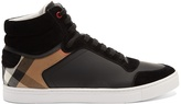 Burberry Reeth high-top leather trainers