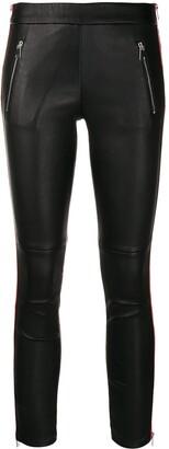 Alexander McQueen striped cropped leggins