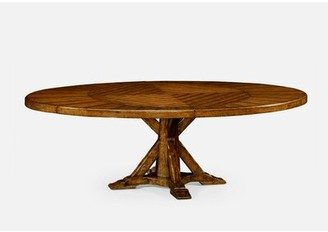 Jonathan Charles Fine Furniture Extendable Solid Wood Dining Table Color: Country Farmhouse Walnut