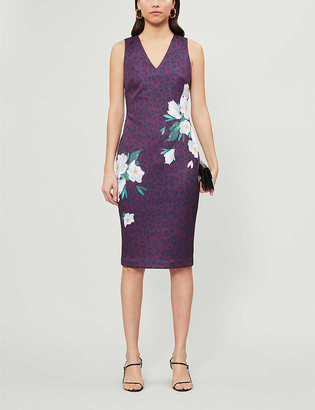 Ted Baker Toriiy Wilderness-print woven midi dress
