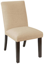 One Kings Lane Erin Pleated Side Chair - Sand Linen - frame, espresso; upholstery, sand