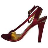 BCBGMAXAZRIA Red Leather Sandals