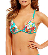 GB Birds of a Feather Molded Push Up Halter Top