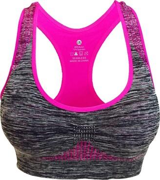 Jiegorge Intimates for Women Women Seamless Sports Bra High Impact Pocket Yoga Bra Zero-Binding Underwear