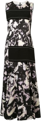 3.1 Phillip Lim Abstract Daisy Side Panel Dress