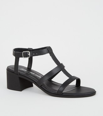 New Look Leather-Look Block Heel Gladiator Sandals