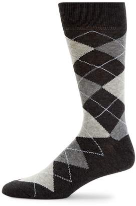 Saks Fifth Avenue Made In Italy Four Square Argyle Crew Socks