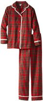 Hartstrings Girls 7-16 Big Flannel Plaid Long Sleeve and Pant Pajama Set