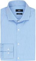 HUGO BOSS Slim-fit stripe-print cotton shirt