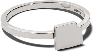 Alexandra Jefford 18kt Gold Geometric Motif Ring