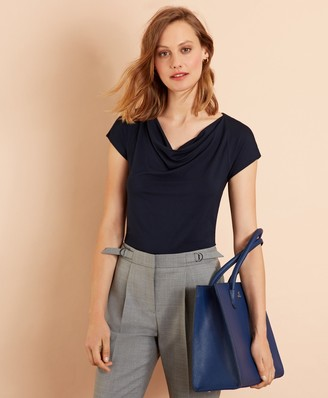Brooks Brothers Cowl-Neck T-Shirt