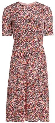 Altuzarra Sylvia Printed Silk Short-Sleeve Dress