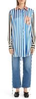 Loewe Stripe Silk Tunic Shirt