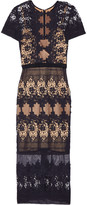 Catherine Deane Forever lace and cotton midi dress