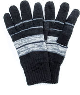 Muk Luks Striped Texting Gloves