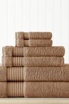 Amrapur 6-Piece Turkish Cotton Towel Set - Mocha