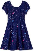 Epic Threads Cosmic-Print Skater Dress, Toddler Girls (2T-4T) & Little Girls (2-6X), Only at Macy's
