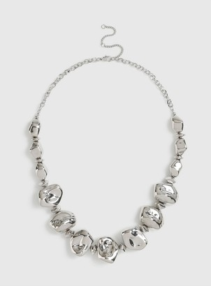 Dorothy Perkins Silver Pebble Bead Necklace