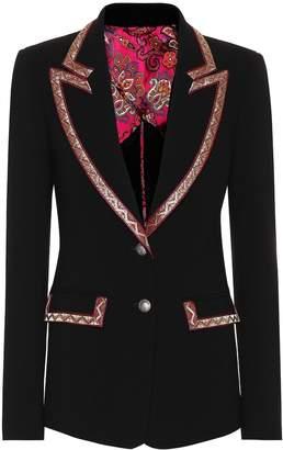 Etro Wool-blend crepe blazer