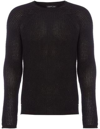 Replay Raglan Sleeves Sweater