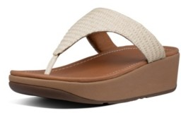 FitFlop Women's Imogen Basket Weave Toe-Thong Wedge Sandal Women's Shoes